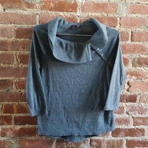 Rafaella gray cowl neck sweater